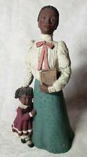 "Sarah'S Attic Black Figurine - Teacher w/Little Girl ""Learning"" Large 8.5"" 1994"