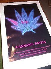 Cannabis Sativa KIRLIAN PHOTOGRAPHY By Bruce Lynne Rare Old Marijuana Poster