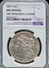 1897-S $1 Morgan Silver Dollar NGC Unc Proof-Like Luster, Strike Free S/H #2043