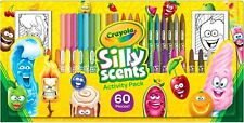 NEW Crayola Silly Scents 60 Piece Pack Slim Markers Twistable Pencils & Crayons