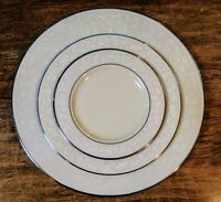 """(3) Lenox """"Pearl Innocence"""" Dinner, Salad & Bread Plates/NWT"""