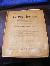 Le pays Lorrain Mai 1937 N°5 Spécial Louis Sadoul non coupé