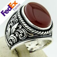 Details about  /925 Sterling Silver Sapphire Stone Turkish Handmade Men/'s Ring All Sizes