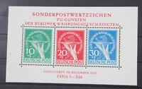 Berlin Block 1 Währungsgeschädigte postfrisch bestens geprüft Schlegel BPP