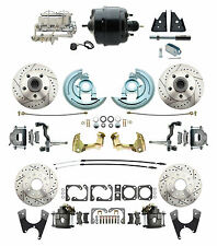 "Front & Rear Disc Conversion Kit, 8"" Dual pc, Aluminum Chrome Vette Style MC"