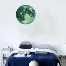 30CM 3D Moon Glow in the Dark Luminous Fluorescent Home Room Wall Decal Sticker
