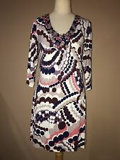Boden Stretchy 3/4 Sleeve Multi Color Beaded Mini Dress Tunic Sz. S,m-6