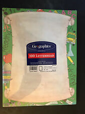NEW! Geographics - Educational Scroll Stationary 100 CT - FREE SHIPPING!!!