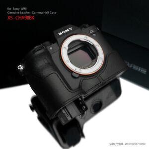 GARIZ XS-CHA9IIBK Leather Half case for Sony A9II, Black