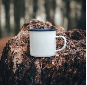 350ml White Enamel Camping Mug