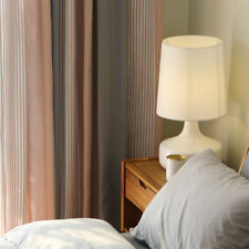 Nordic cotton thick shade pink gray striped blackout curtain tulle yarn M608