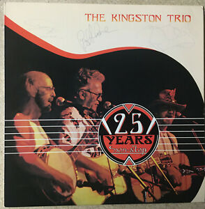 The Kingston Trio Full Autographs 25 years Non Stop Grove Shane Gambill VG+