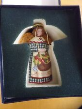 Lang and Wise Collectibles Susan Winget Gardening Angel Bell Nib Radiance 1999