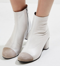 New Look Leather Boots with Contrast Block Heel Brand New with Tags