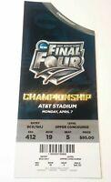 2014 Final Four Championship Ticket Kentucky Wildcats UConn Huskies Basketball