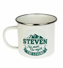 Steven Camping Enamel Tin Metal Mugs Cups Outdoor Gardening Picnic New