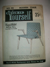 Vintage Easi-Bild Modern Chair #92 Wood Working Pattern 1950~Unopened