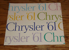 Original 1961 Chrysler Full Line Sales Brochure 61 Newport New Yorker Windsor