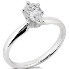 14K Gold Ring F color Si1 #156 0.50 carat Pear Shape Diamond Solitaire Wedding