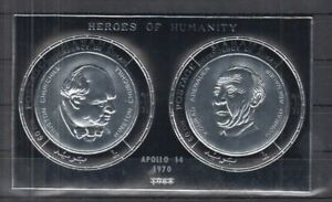 N466. Manama - MNH - Famous People - Heroes of Humanity - Silver