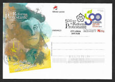Portugal 500 y. Protestant Reformation Martin Luther Postal Pmk stationery 2017