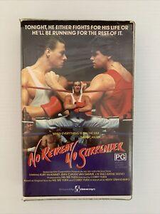 No Retreat No Surrender VHS Clam Shell Jean-Claude Van Damme 1985 Free Post