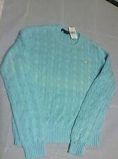 Ralph Lauren Sport Blue V Neck Sweater Women's Size Large Crew Neck JBY