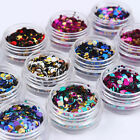 12Boxes Ultrathin Nail Art Sequins UV Gel Multi Shiny Round Decoration DIY Tips