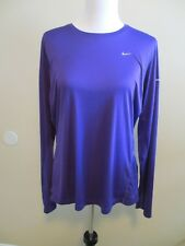 NIKE DRI-FIT PURPLE LONG SLEEVED ATHLETIC RUNNING SHIRT TOP SIZE XL