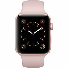 NEW APPLE WATCH SERIES 2 42MM ROSE GOLD ALUMINUM CASE PINK SAND SPORT BAND