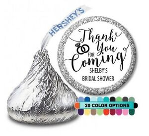 Thank you for coming! Bridal Shower Personalized Party Favor Hershey Kiss Label