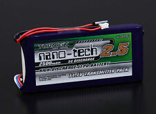 Turnigy nano-tech 2500mAh 3S 11.1v 5C Lipo 6EX 3PKS Transmitter Pack Battery TX