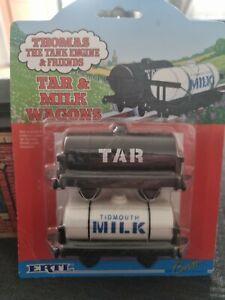 Thomas The Tank Engine ERTL. Tar & Milk Wagons (1993). New In Box & Rare.