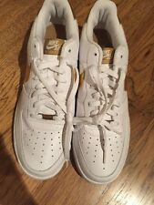 Brand New Nike Air Force 1. Size 14. White And Gold