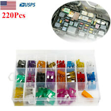 220 Pcs Car Blade Fuse Assortment Assorted Kit Blade Fuse Set For Truck Boat SUV