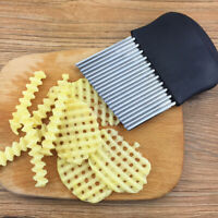 Stainless Steel French Fry Cutter Potato Vegetable Wave Crinkle Cut Knife