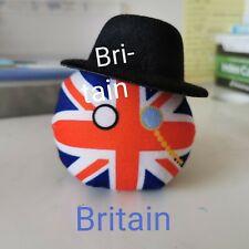 10cm Polandball Dango Britain UK Plush Doll Stuffed Hanging Toy Kid Xmas Gift