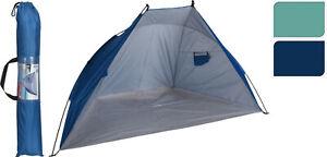Strandmuschel Windschutz Sichtschutz 218x115x115 UV Sonnenschutz 50+ Strandzelt