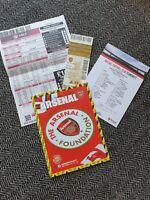 Arsenal v Manchester City 15/12/19 Programme + Teamsheet + VIP Ticket + BETSLIP!