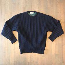 Driza Bone Golf Knitwear Cable Knit Crew Lined Sweater Wind Resistant Men's XL
