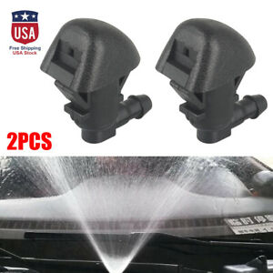 2x Front Windshield Wiper Spray Washer Hood Nozzle Jet For 2009-2015 Honda Pilot