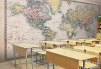 3D Pink Map R28 Business Wallpaper Wall Mural Self-adhesive Commerce Zoe