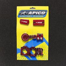 RMZ 250 07-18 RMZ 450 05-18 BLING PACK AXLE BLOCKS CYLINDER COVER PLUGS RED