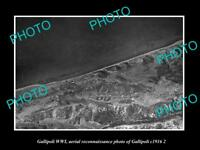 OLD LARGE HISTORIC MILITARY PHOTO WWI GALLIPOLI AERIAL VIEW OF GALLIPOLI 1916 3