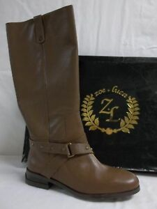 Zoe + Luca Size 6 M  Lauren Brick Leather Knee High Boots New Womens Shoes