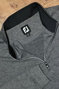 FOOTJOY 1/4 Zip Nylon Stretch Jacket Gray Heather Men Large EUC B18