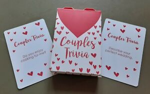 BNIB Couples Trivia Table Fun Romantic 52 Cards Valentines Day Dinner Game