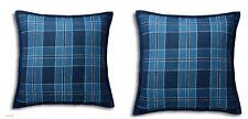 2 RALPH LAUREN Evan Plaid Linen Throw Toss Pillow Lot Of (2)