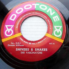 FASCINATORS reissue doowop Dootone 45 SHIVERS & SHAKES TEAR DROP EYES   M-  FM66