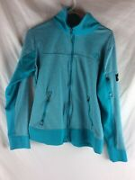 The North Face Womens Jacket Size L Large Blue Full Zip Hooded